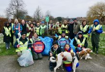 Group of litter pickers